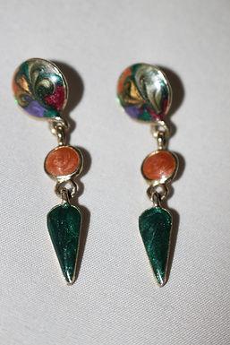 Vintage Silver/gem Earrings