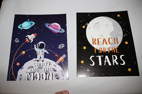 """Space Posters: 8-1/2"""" x 6"""""""
