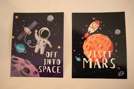"Space Posters: 8-1/2"" x 6"""