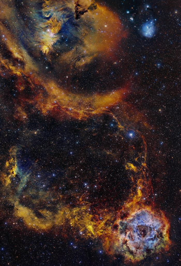 Cone &Y Rosette Nebula