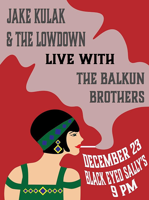 Black Eyed Sally's with Balkun Brothers Concert Poster