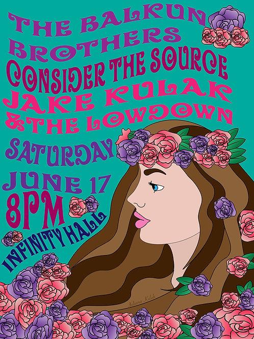 Jake Kulak Concert Poster - Infinity
