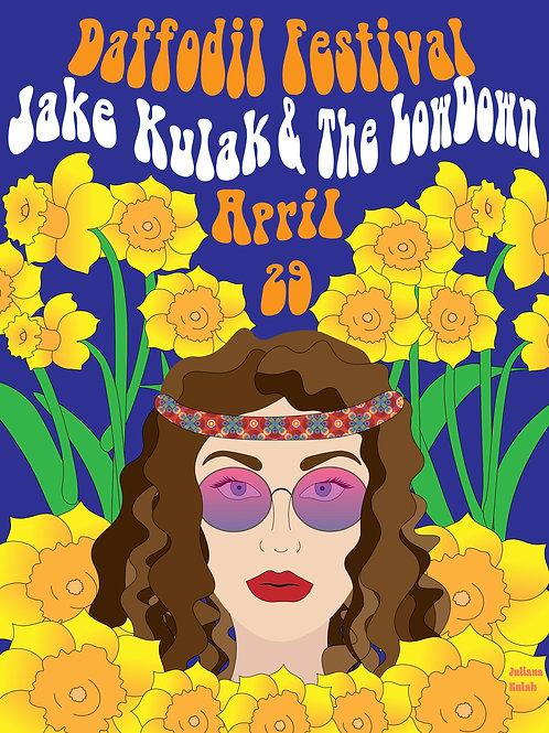 Jake Kulak Concert Poster -Daffodills