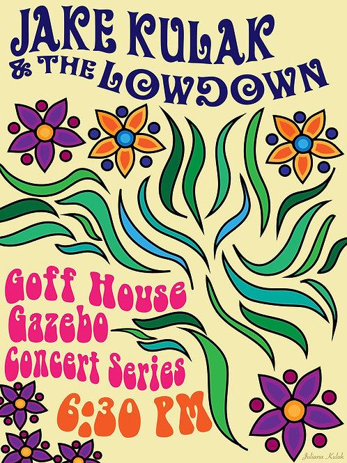 Jake Kulak Concert Poster - Gazebo