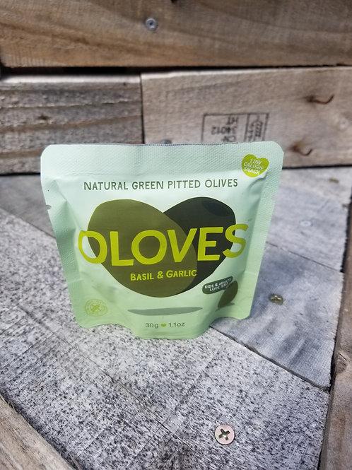 Basil & Garlic Pitted Green Olives