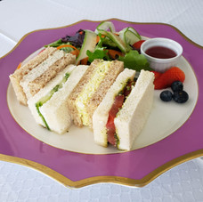 Variety of tea sandwiches