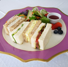 Variety of tea sandwiches