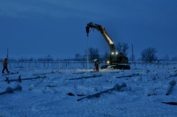 Drill Rig 4 Helical Install - Jan 14
