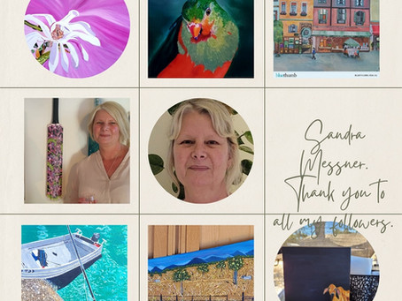 The story behind Sandra Messner. Artist in oils.