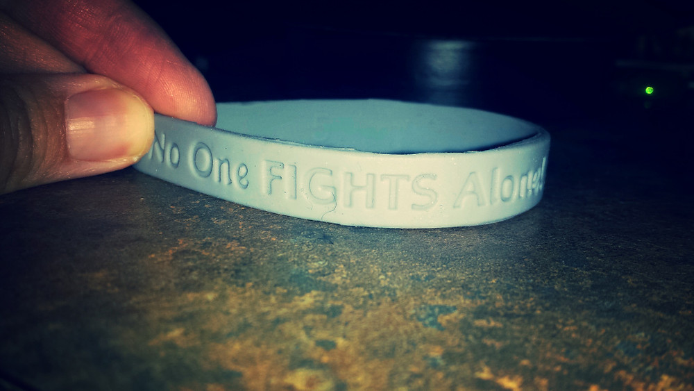 """""""No One Fights Alone"""" is the mantra for Brain Cancer warriors. I think it should be a mantra for life."""