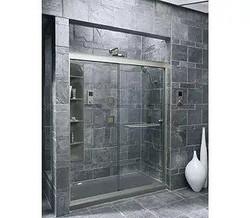 Gray walk-in Shower