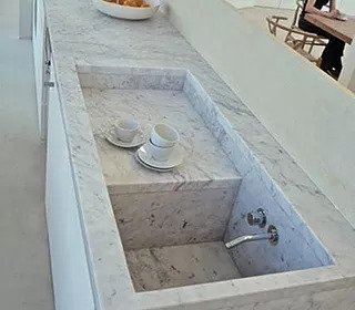 Custom made sink