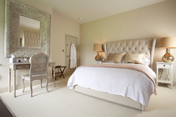 King size bed in the Primrose room