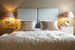 Twin bed in the Warren Room