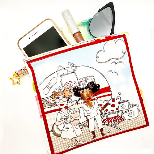 Nurses on vacation/artist zipper pouch