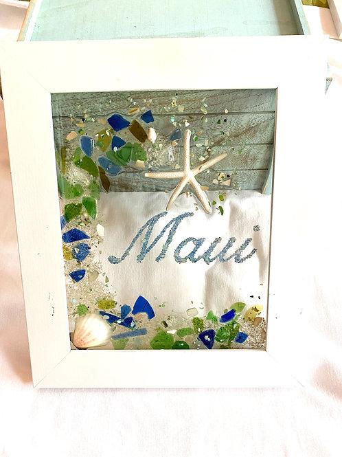 Maui sea glass picture window