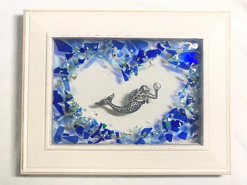 Mermaid in a heart of glass