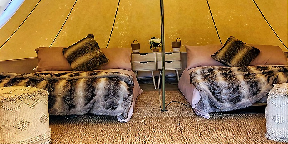 THE SANCTUARY AMARA RETREAT QLD - Glamping Tents Double Bed