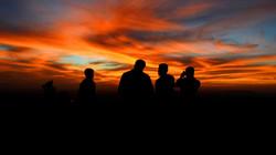 Sunset Beach Silhouettes