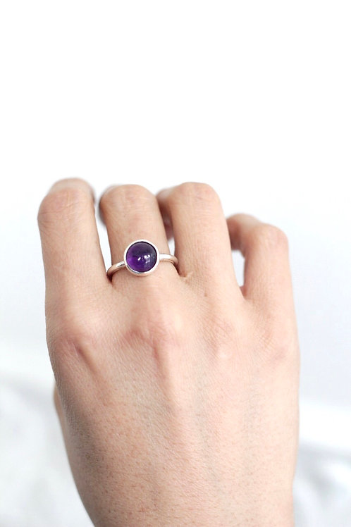 Anillo bisel amatista