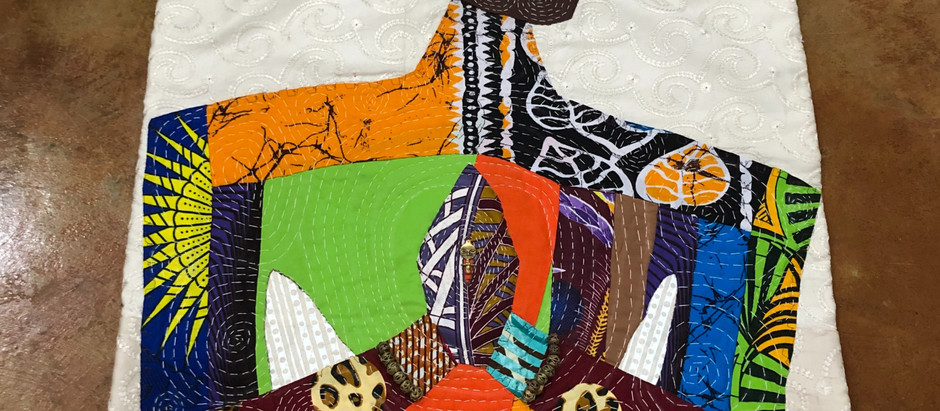 #8 Fiber Art Threads of Gratitude