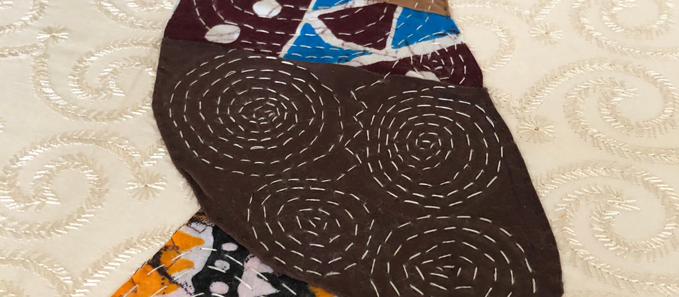 #7 Fiber Art Threads of Gratitude