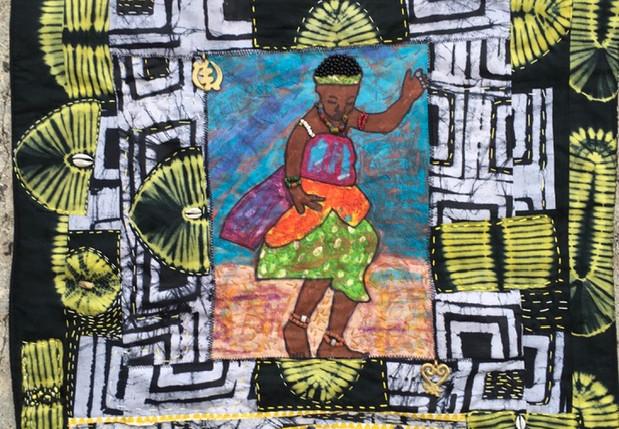 #4 Fiber Art Threads of Gratitude:  Kianga Art