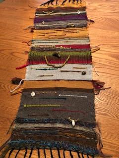 #3 Fiber Art Threads of Gratitude: Finished My Saori Weaving Piece