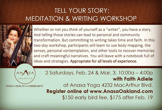 Two Writing Workshops, One Deadline (2/19)!
