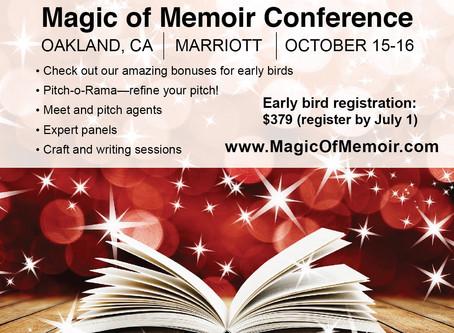 Oakland Magic of Memoir Conference + SF LitCrawl on same weekend!