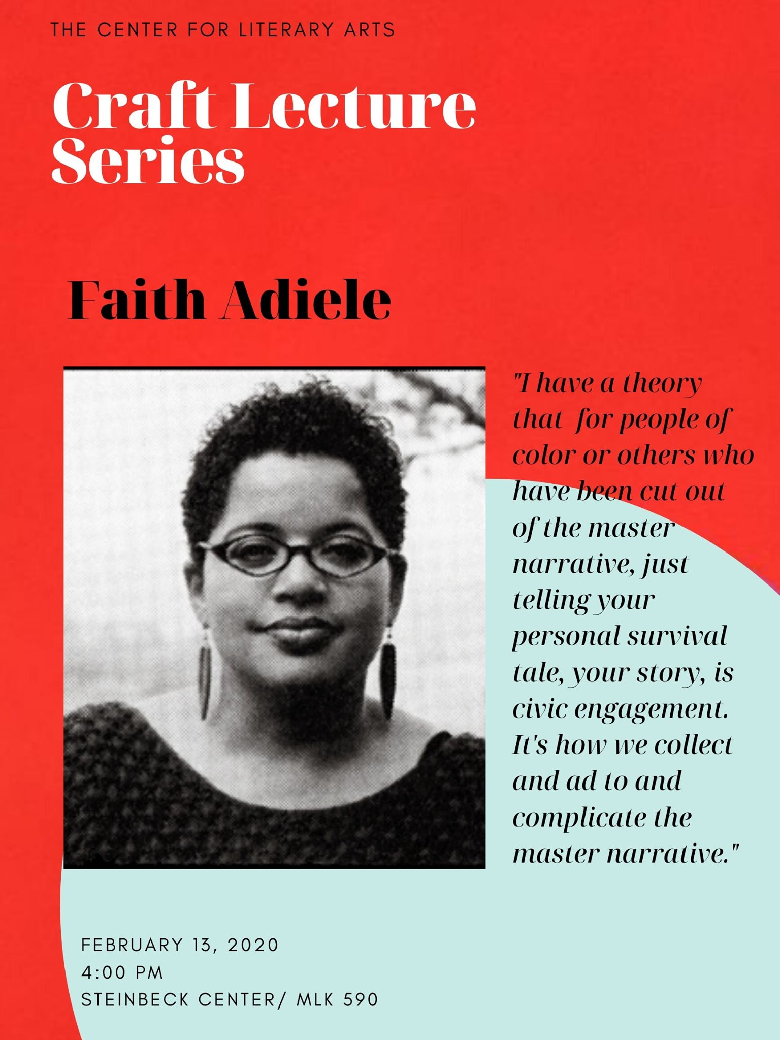 Craft Lecture Series: Faith Adiele