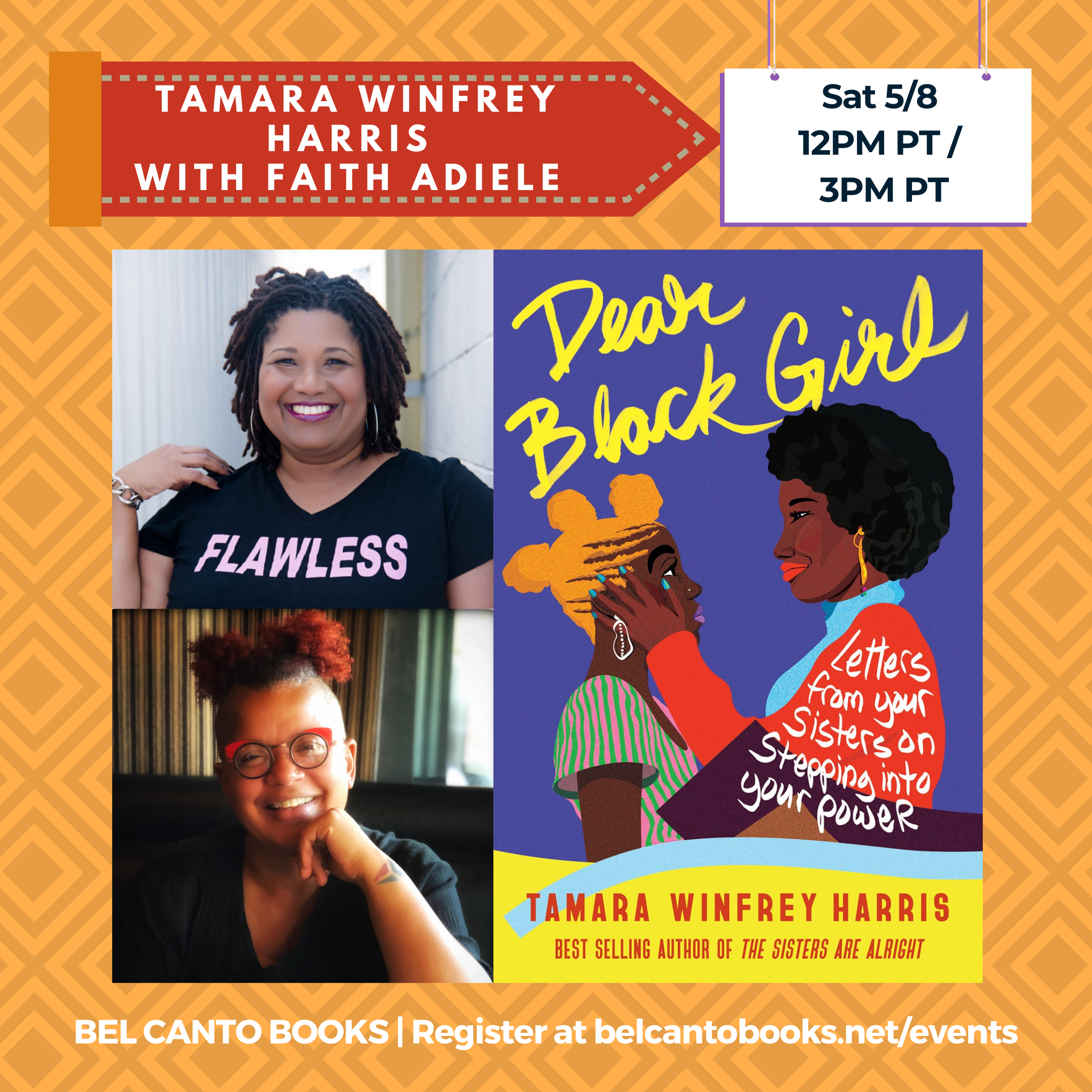 Celebrate Dear Black Girl w/me & its editor on May 8