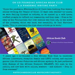 BIPOC Writing Group + African Book Club