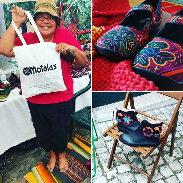 Buying _motalaszapatos cloth appliqués shoes in San Miguel de Allende reminded me having leather boots made at Thieves Market in Lisbon_____