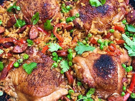 Chicken And Chorizo Paella a la Parilla