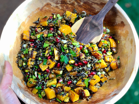 Wild Rice Salad with Roasted Butternut Squash