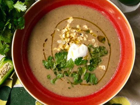 Hatch Chili and Corn Bisque