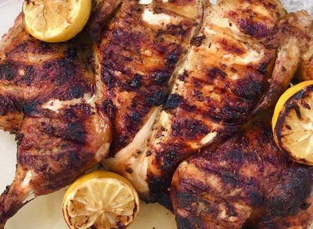 Brick Grilled Lemon Herb Chicken