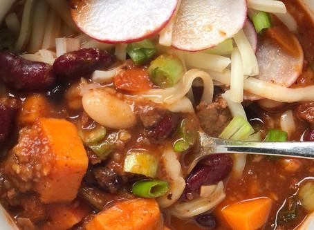 Bison and Sweet Potato Chili