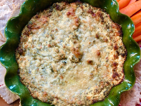 Baked Spinach, Artichoke & Sun-dried Tomato Dip
