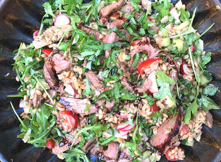 Balsamic Grilled Steak and Farro Salad