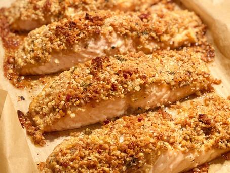 Pecan & Parmesan Crusted Salmon