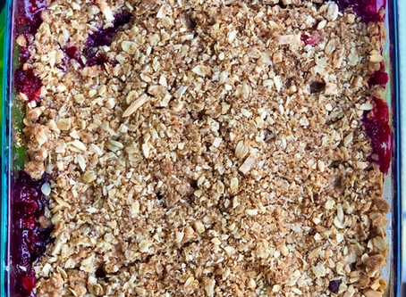 Almond COCOnut Berry Crumble