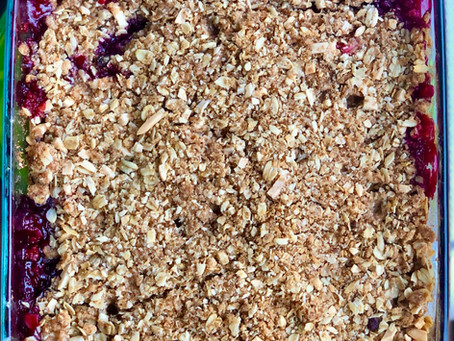 Almond COCOnut Berry Crumble