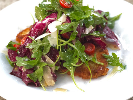 Chicken Milanese with Insalata Mista