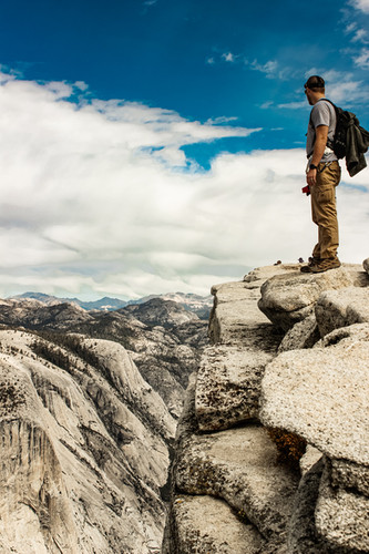 Colton Hale - Top of Half Dome @ Yosemite NP