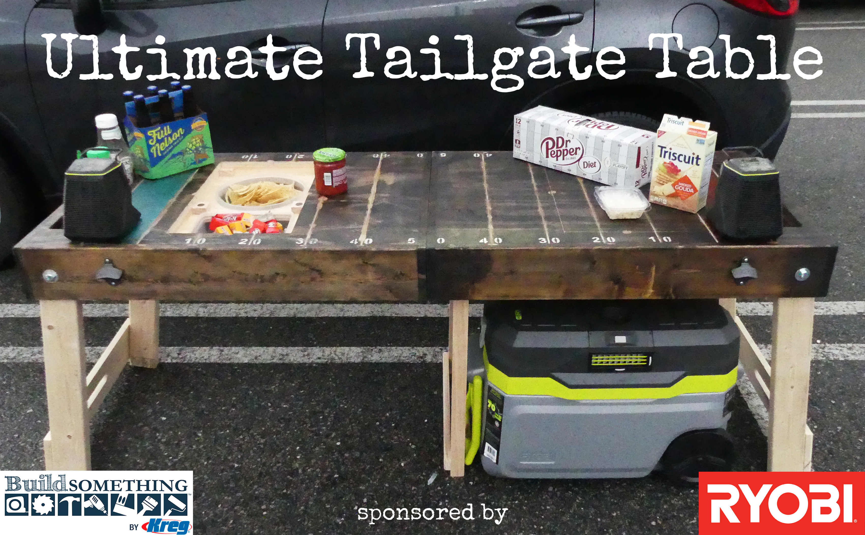 Ultimate folding tailgate table lazy guy diy casual diy ultimate folding tailgate table lazy guy diy casual diy woodworking geotapseo Images