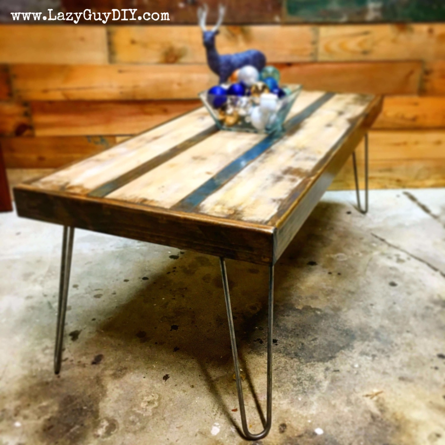 Thirteen Days Woodworking Hairpin Coffee Table