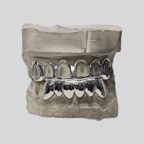 Custom Sterling silver grillz
