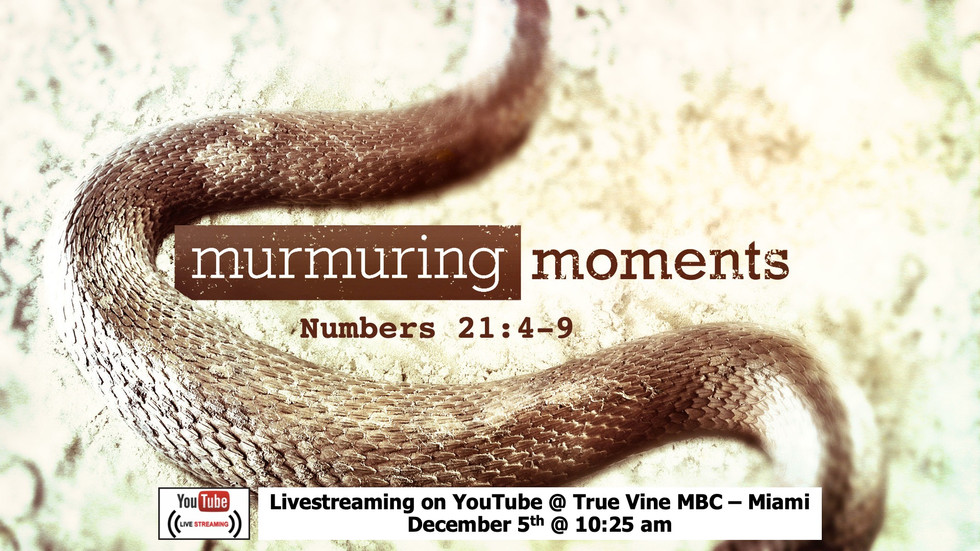 Murmuring Moments - Numbers 21:4-9